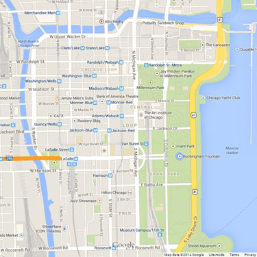River North Area Chicago Map.Reilly To Propose New Rules For Signs Along Chicago River Loop