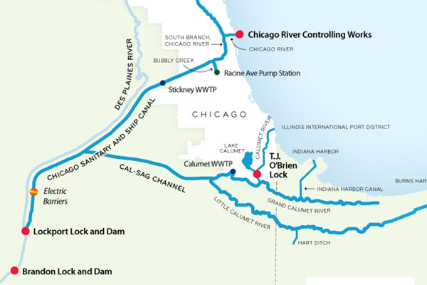 Despite DNA Evidence No Asian Carp In Chicago River Says IDNR - Map of illinois rivers