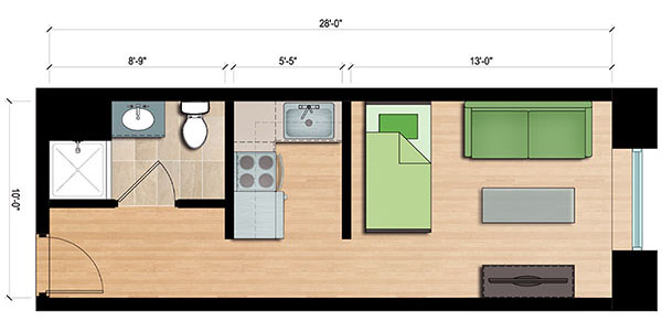 1000 images about studio apartment on pinterest micro 250 square foot apartment floor plan