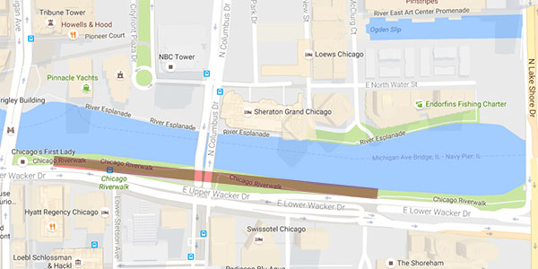 Riverwalk Chicago Map.Riverwalk Visitors Tiptoe Through Sewage Loop North News