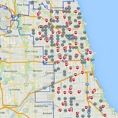 Chicago Red Light Camera Map Red Light Camera Chicago Map | europeancytokinesociety