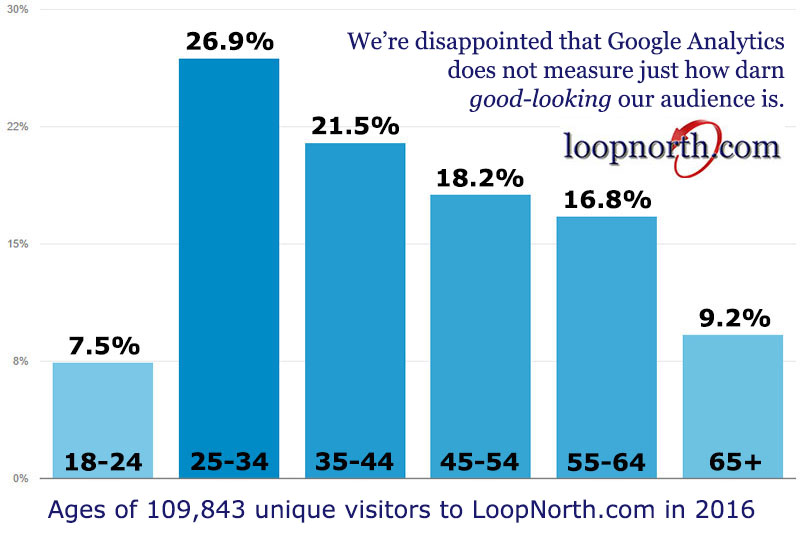 Ages of Loop North visitors